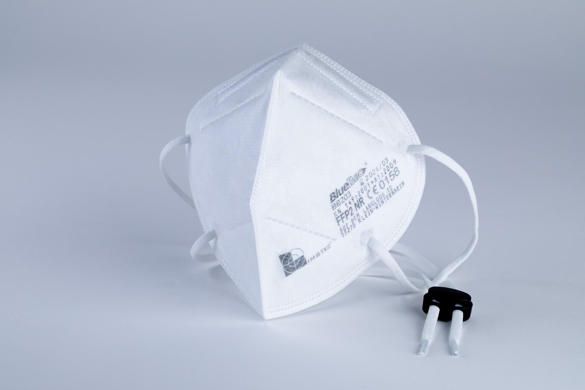 BlueBec® BB203, 1000er Karton FFP2-Masken, CE-zertifiziert (CE 0158)