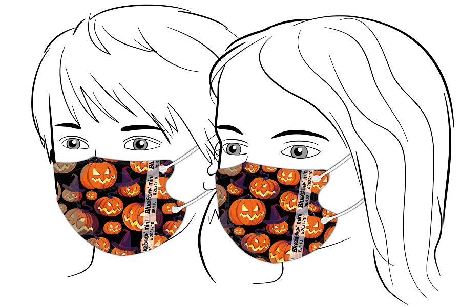 BlueBec® Mini-Maske BBM10 – Halloween 2, 10er Box