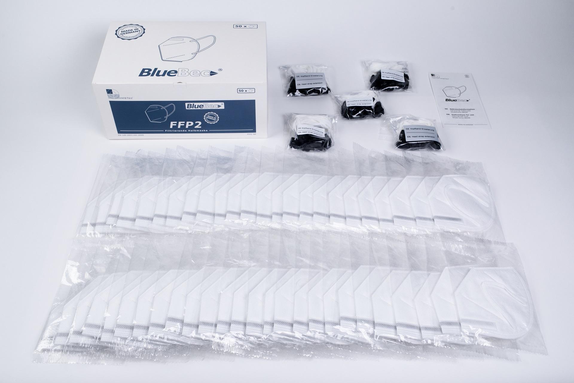 BlueBec® BB204, 50er Box FFP2-Masken, CE-zertifiziert (CE 0158)